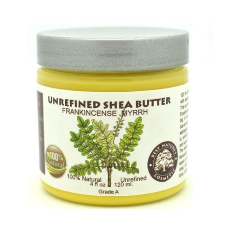 Unrefined Frankincense Myrrh Shea Butter - Natural Organic