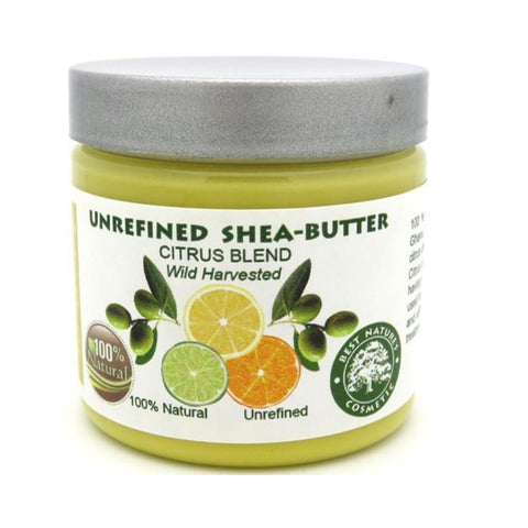 Unrefined Shea Citrus Butter Blend 4oz / 120ml - Natural Organic