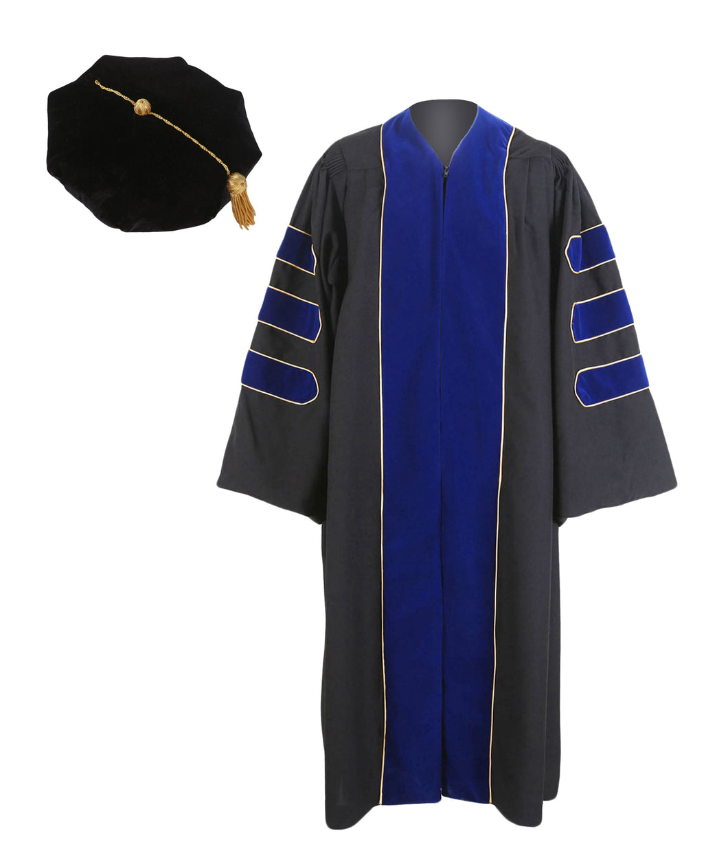 Doctoral gown,customization hood and 8m sides tam package