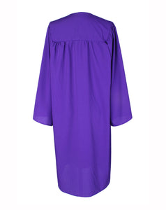 Matte Purple High School Graduation Cap & Gown with 2019 Tassel for Adult