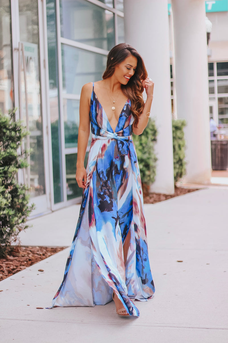 Super Sexy V Neck Maxi Dress