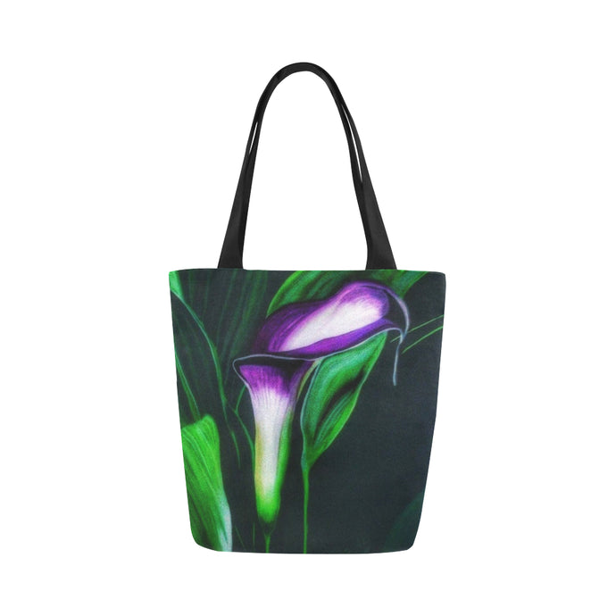Canvas Fine Art Tote Bag - Calla Lily, by West Coast Artist, Pattiann Withapea