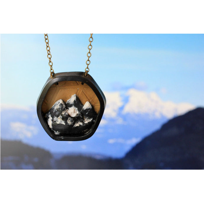 Hexagon mountain necklace