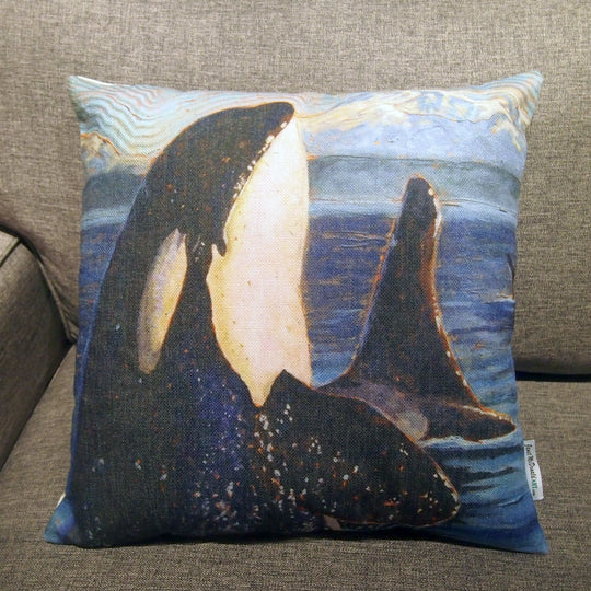 Printed Pillow Cover - Orca
