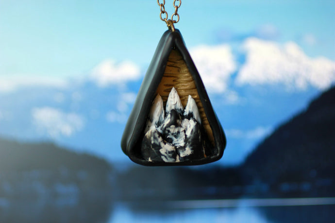 Triangle Mountain Diorama Necklace