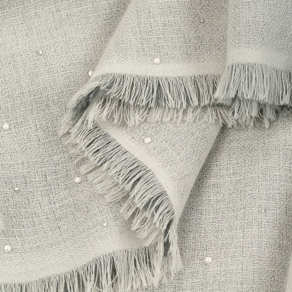Ombre Scarf with Pearl and Crystals