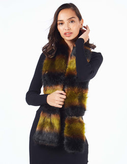 DANELLE - Faux Fur Khaki Neck Warmer