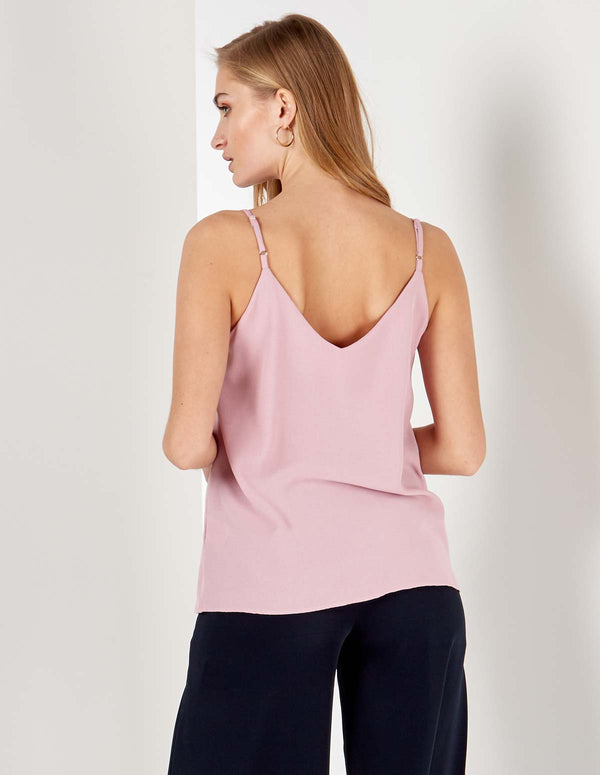 SAVANNA - Button Front Blush Cami Top