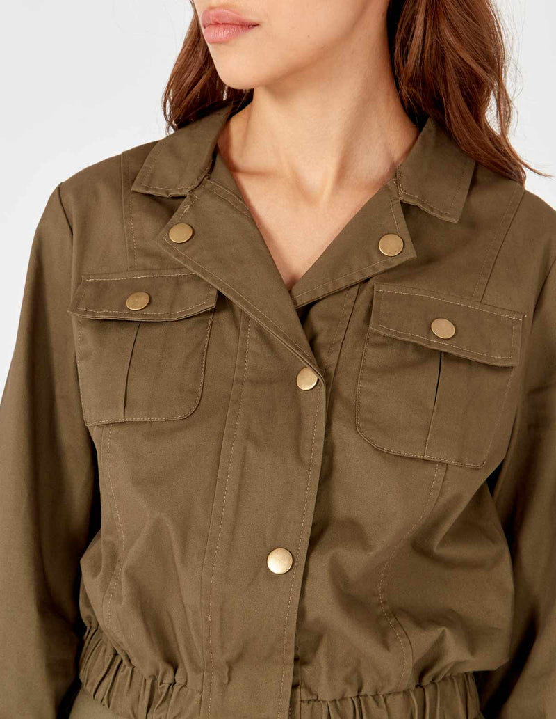 GITA - Crop Safari Khaki Jacket