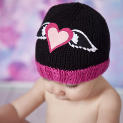 Zooni Hearts-a-Flutter Baby and Toddler Girl Beanie Hat icon