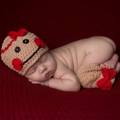 Miss Gingerbread Beanie with Leg Warmers- Newborn Girls icon