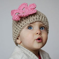 Oatmeal Flower Beanie Baby Hat icon