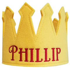 Yellow Personalized Felt Crown Baby and Toddler Boys (more colors available) icon