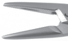 Derf Needle Holder - Straight, Heavy 13mm Serrated Jaws