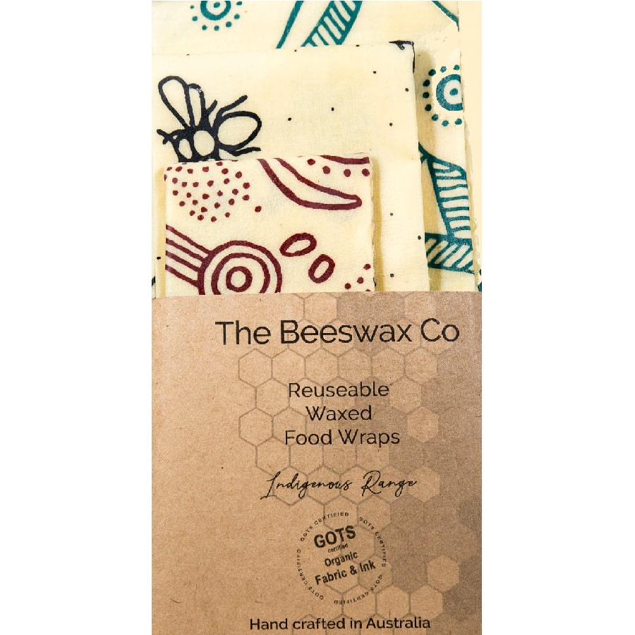The Beeswax Co Reusable Beeswax Food Wraps - Indigenous
