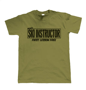 Apres Ski Instructor, Funny Mens T-Shirt