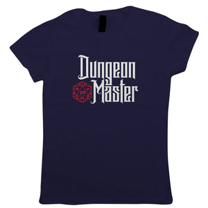 Dungeon Master Womens T-Shirt | Dungeons Dragon D&D DND Pathfinder 3.5 Tarrasque | Role Play Fantasy Pen Paper Games Bag Of Holding | Geek Gift Her Mum