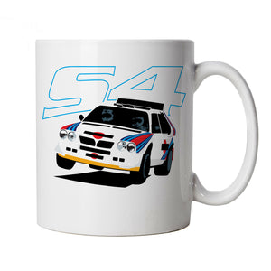 S4, Classic Group B Rally Car Mug