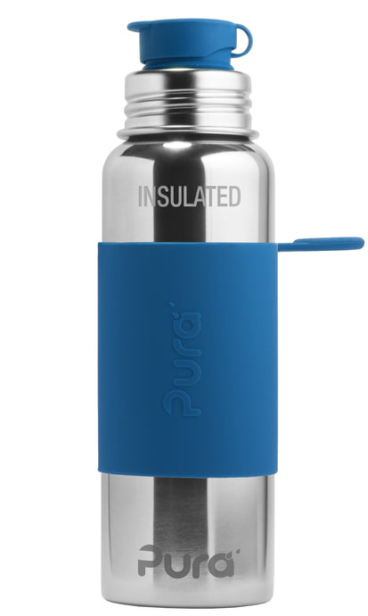 Pura Sport 650 Insulated Stainless Steel Bottle - Steel Blue
