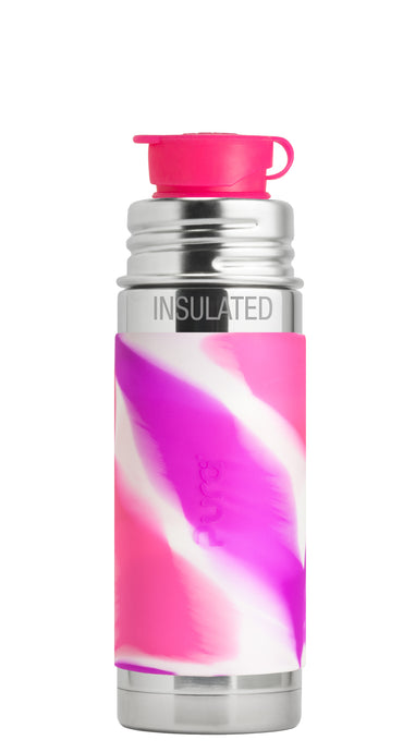 Pura Sport Mini 260 Insulated Stainless Steel Bottle - Pink Swirl