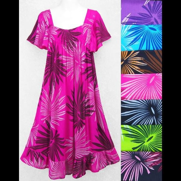 Frond Butterfly Sleeve Dress-Dresses-Peaceful People