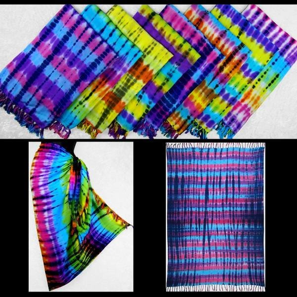 Antique Tie-Dye Sarongs-Sarongs-Peaceful People