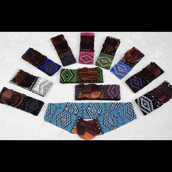 12 Bead Aztec Belts ($4.95 each)-Bracelets & Jewelry-Peaceful People