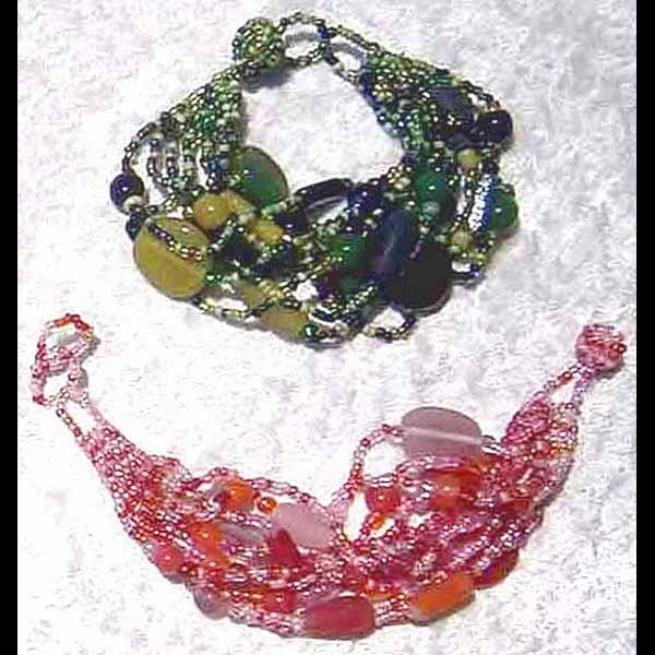 Art Glass 2 Bracelets (DISPLAY PACKAGE)-Bracelets & Jewelry-Peaceful People