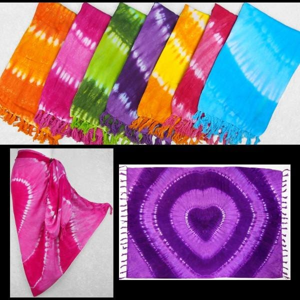 Tie-Dye Heart Sarongs-Sarongs-Peaceful People