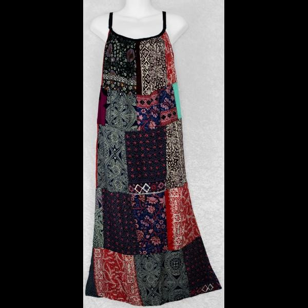 Patchwork Parachute Dress-Patchwork Clothing-Peaceful People