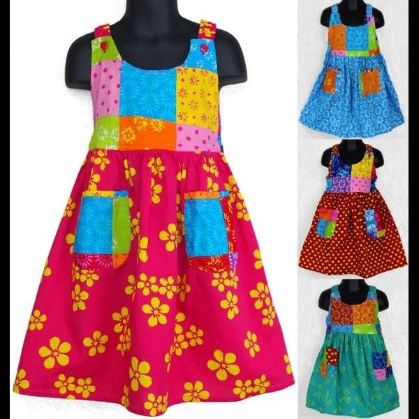 Sunny's Patchwork Dress (Ages:2, 4, 6)-Dresses-Peaceful People