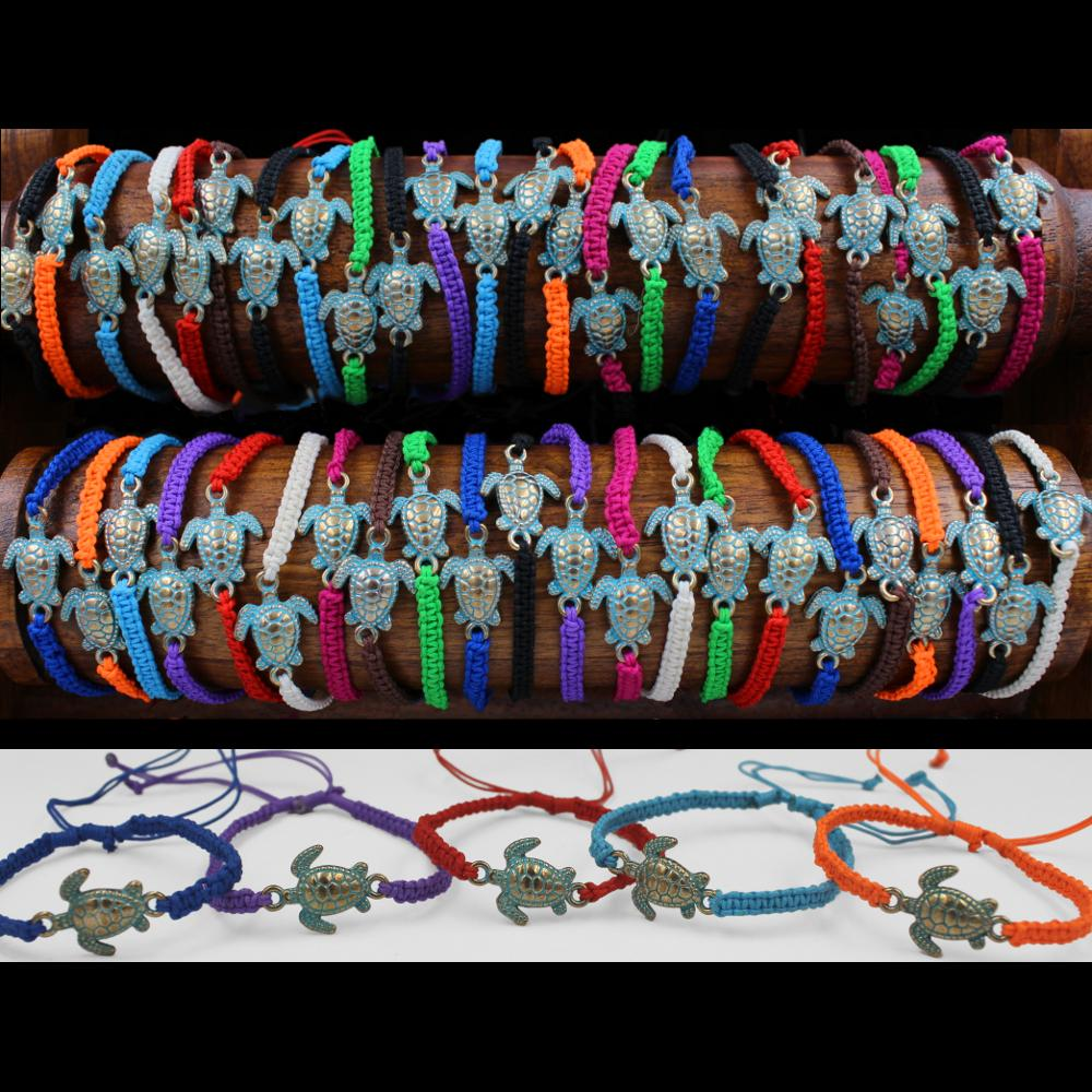 50 Sea Turtle Bracelets ($0.46 each)-Bracelets & Jewelry-Peaceful People