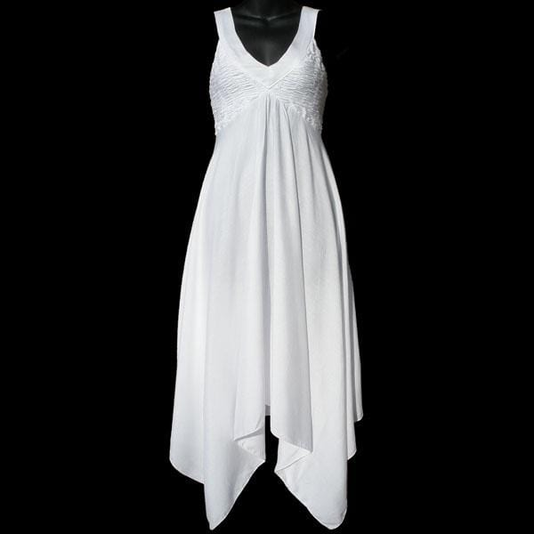 Willow's White Rayon Dress-Dresses-Peaceful People