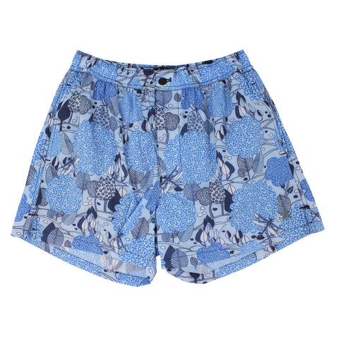 QUACK Swim short Dragonfly Trees Blue