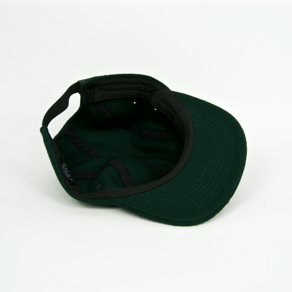 Post Details - Post Details - Five Panel Wool Cap - Forest Green