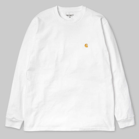 Carhartt WIP -  Long Sleeve Chase T shirt - White / Gold