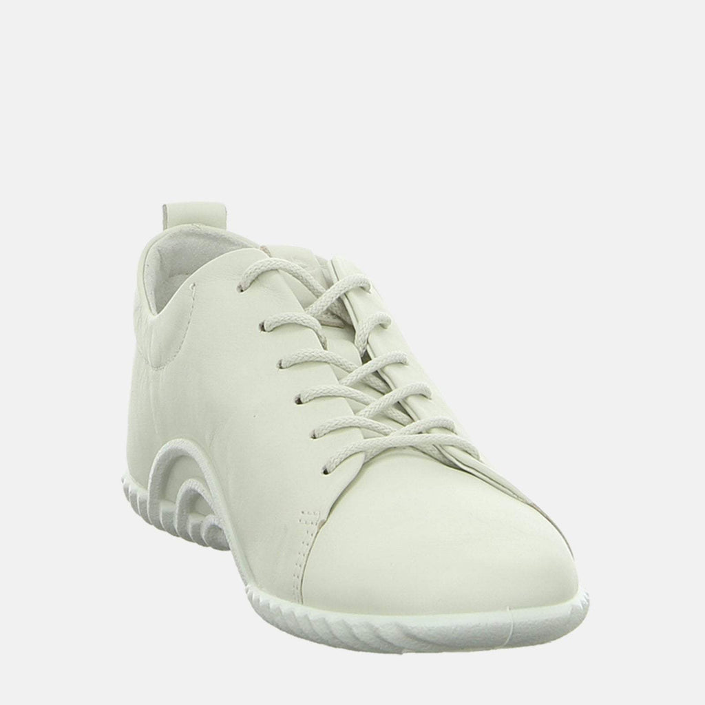 Ecco Footwear UK 3.5 / EU 36 / US 5-5.5 / White Vibration 10 206113 01152 Shadow White - Ecco White Soft Leather Ladies Trainers