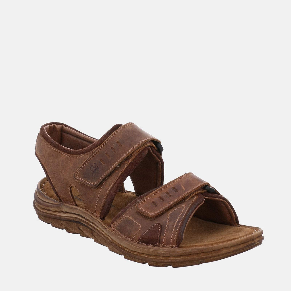 Josef Seibel Footwear UK 6.5 / EU 40 / US 7.5 / Brown Josef Seibel Raul 19 Castagne/Brasil  Brown Tan Leather Velcro Sandal