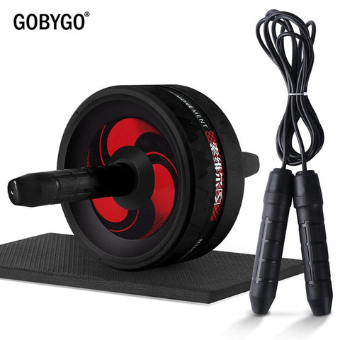 Ab Roller with Jump Rope and Knee Pad