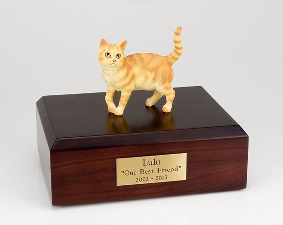Red Tabby Cat Pet Cremation Urn