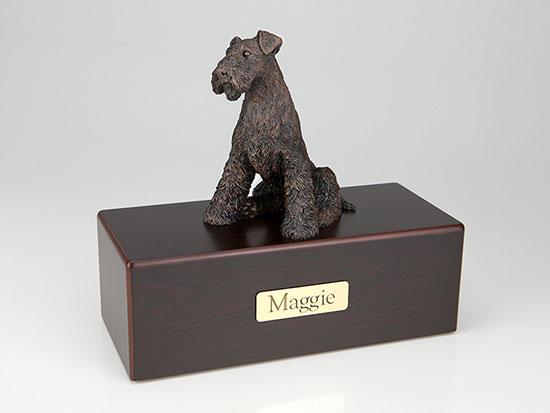 Airedale Economy Bronze Series  Dog Pet Urn