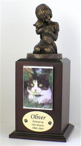 Always My Kitty Cat Pet Urn Walnut