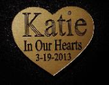 Heart Shaped Angel Cat Engraved Nameplate Only