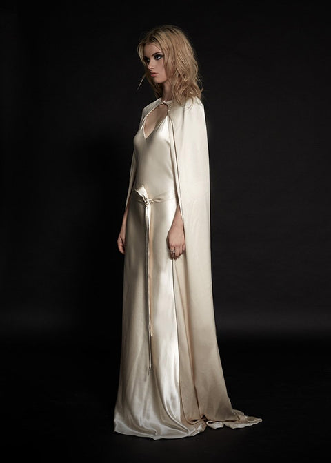 SS2017 The Crest Silk Evening Cape (& Crest Gown)