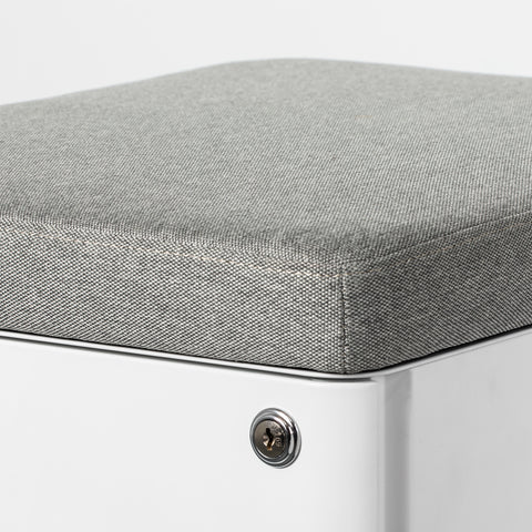 Magnetic Cushion attached to a white mobile desk drawer