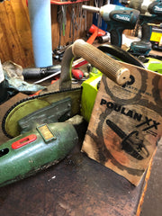 Poulan XX Atom Vintage Complete Running Serviced Chainsaw Drill