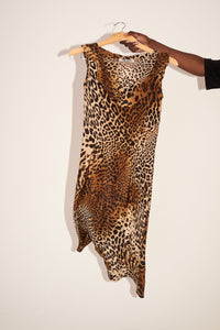 Silk leopard-print dress