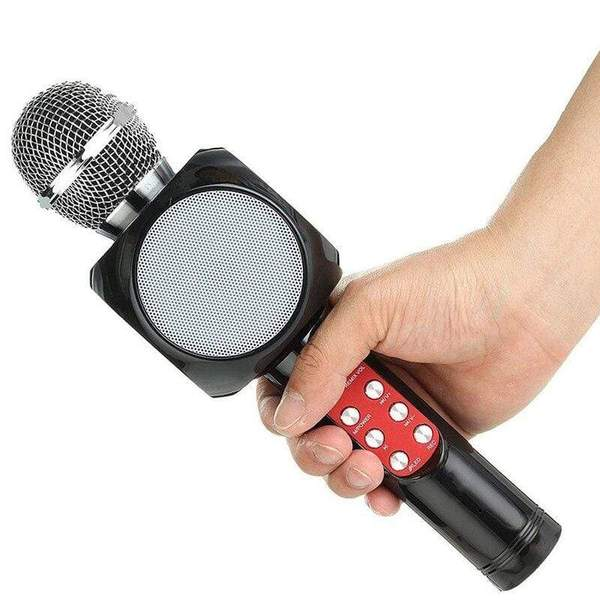 Bluetooth Wireless Karaoke Microphone Handheld Light