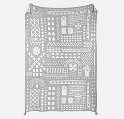 Buy Safomasi Grey Knitted Throw - at Quirk Collective Online