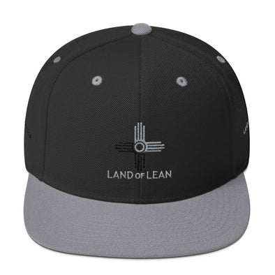 Land of Lean Snapback Hat - Green Under Visor - (Silver & Black Zia)